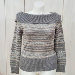White House Black Market Sweater Metallic Sequins